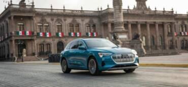 Audi e-tron, el primer modelo de producción totalmente eléctrico de la marca de los cuatro aros, ya está disponible en México. Foto: Cortesía