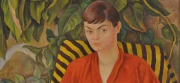 El óleo sobre tela Retrato de Miss Juleen Compton, realizado por Diego Rivera en 1956, se muestra por primera vez en México. Foto: Cortesía INBAL