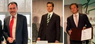 Luis Videgaray, Enrique Peña Nieto y Emilio Lozoya. Foto: Especial