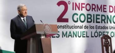 Presidente Andrés Manuel López Obrador entrega su segundo Informe de Gobierno. Foto: Cortesía Presidencia de México