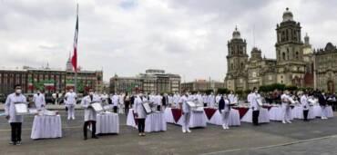 """¿Cómo fue el desfile militar del 16 de septiembre en la """"nueva normalidad""""? Foto: Cortesía: Presidencia de México"""