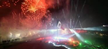 Zócalo de la Ciudad de México, grito de Independencia de México 2020. Foto: Cortesía Presidencia de México
