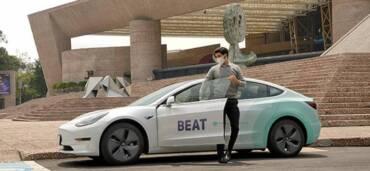 Beat Tesla, el nuevo servicio de transporte en CDMX. Foto: Cortesía Beat