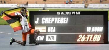 Joshua Cheptegei, atleta. Crédito: Especial
